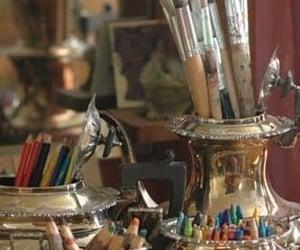 art, art studio, and artsy image
