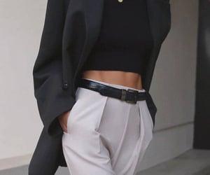 fashion, black, and Blanc image