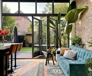 design, living room, and garden image