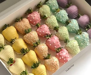 colors, food, and strawberry image