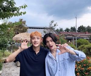hyunjin, stray kids, and bang chan image
