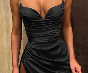 beauty, black dress, and fashionable image