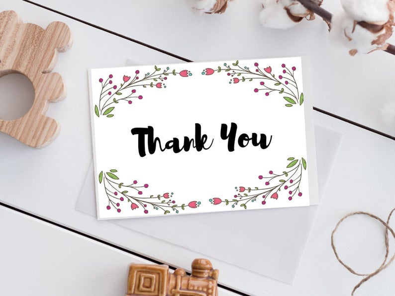 etsy, thank you printable, and thank you business image