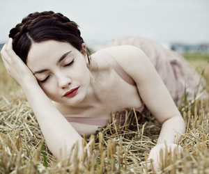 girl, pale, and field image