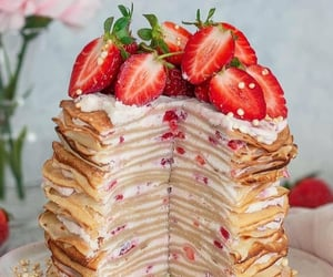 crepes, dessert, and sweets image