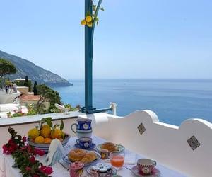 Amalfi coast, breakfast, and italy image