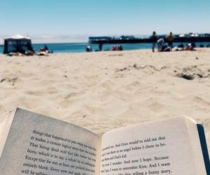 beach, books, and calm image