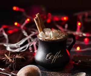 marshmallow, yummy, and hot chocolate image