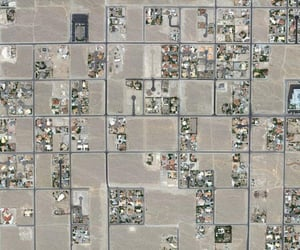 aerial view, aerial photography, and desert image