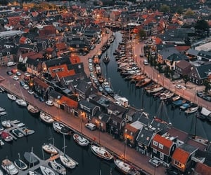 aerial photography, canals, and aerial view image