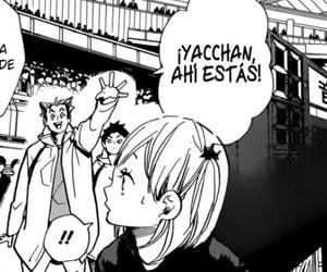 haikyuu, akaashi keiji, and yachi hitoka image