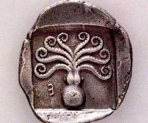 ancient greek coin and from eretria euboea image