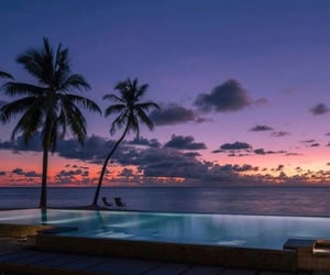 aesthetic, beach, and twilight image