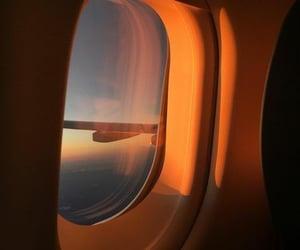 orange, sky, and plane image
