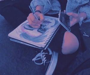 black, city, and draw image