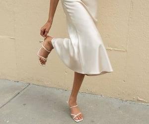 silk skirt, fashion, and girl image