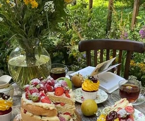 cake, food, and garden image
