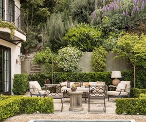 garden, outdoor seating, and patio image
