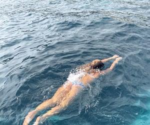 beach, bikini, and daydreaming image