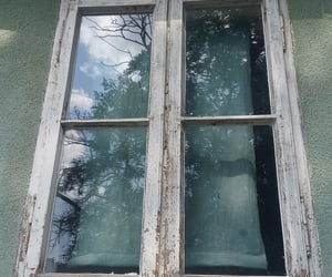 girl, old house, and reflection image