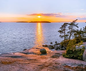 archipelago, clouds, and finland image