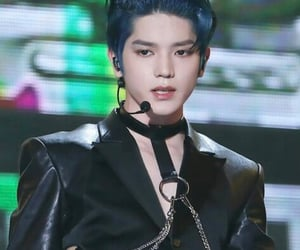 blue hair, nct, and nct 127 image