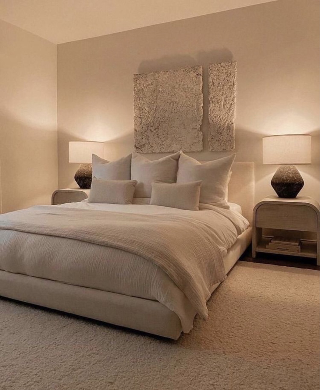 bedroom, beige, and interior design image