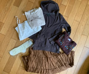 brown, fairy aesthetic, and grunge image