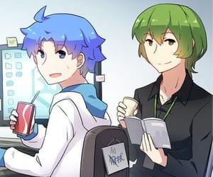 anime, chairs, and coca cola image