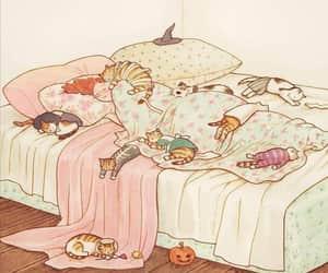 arte, Gatos, and ilustraciones image