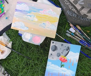 art, picnic, and hangout image