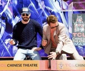 Avengers, chris evans, and robert downey jr image