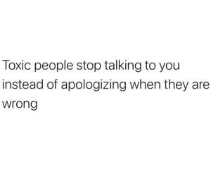 apologizing and toxic people image