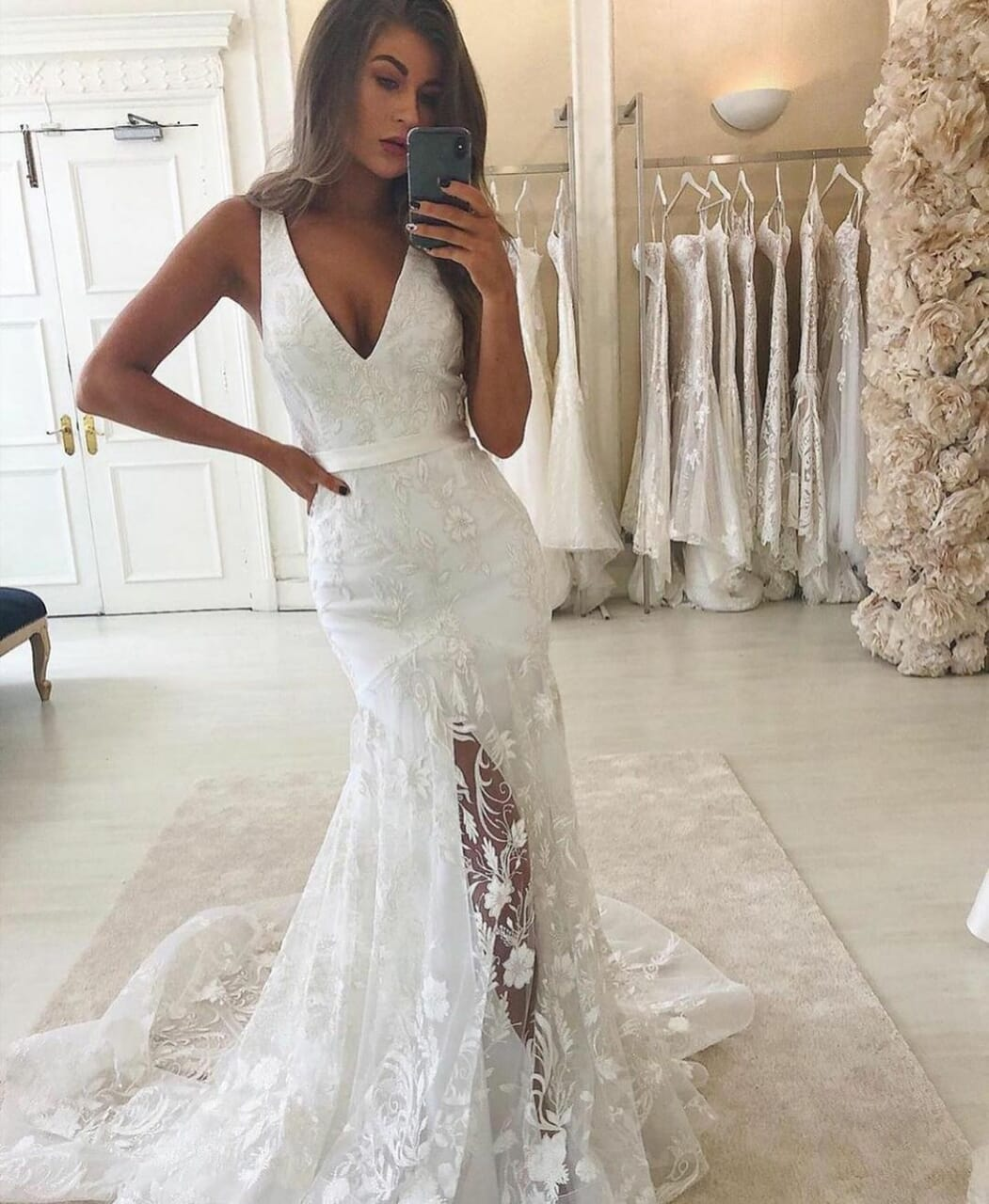 Blanc, bride, and dentelle image
