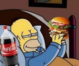 food, homer, and the simpsons image