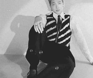 black, bts, and kim namjoon image