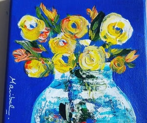 arte, dibujo, and flores image