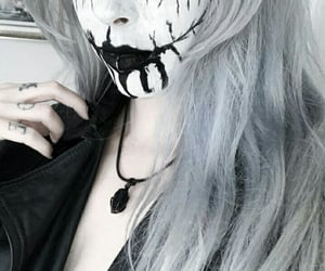black and white, Black Metal, and goth image