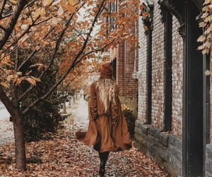autumn, girl, and atmn image