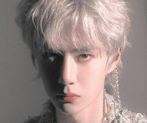 white hair, wang yibo, and uniq image