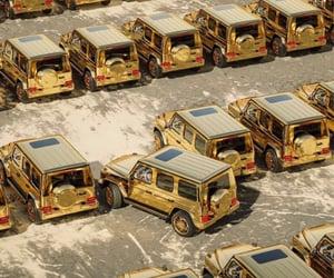 cars, gold, and gwagon image
