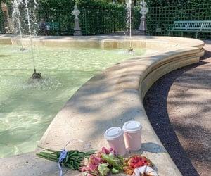 drinks, food, and picnic image