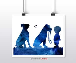 etsy, nursery decor, and blue watercolor image