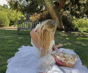 hair, nature, and picnic image