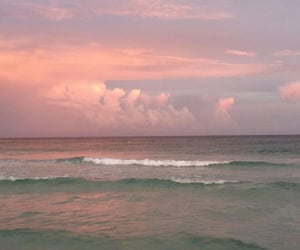 ocean, sky, and aesthetic image