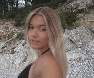 blonde, ocean, and summer image