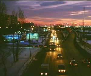 lights and sunset image