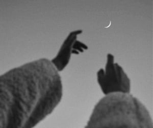 moon, sky, and hands image