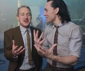 owen wilson, tom hiddleston, and loki image