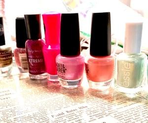 girly, nails, and glam image
